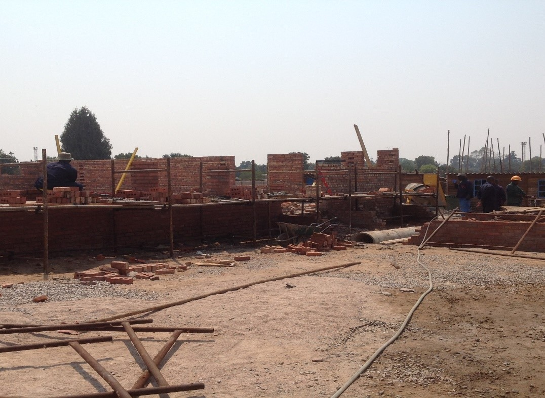 Construction of maternity theatre at Mabvuku Polyclinic, Sep 2015